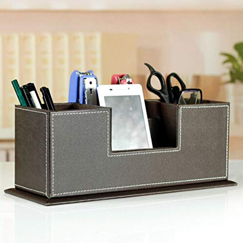 ( AIUSD Clearance , Desktop Storage Box Cosmetic Skin Care Products leather Storage Rack)
