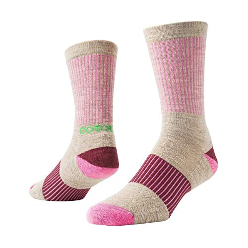 Cotopaxi Libre Sock Contrast Rib - Cream/Bubble Gum Large
