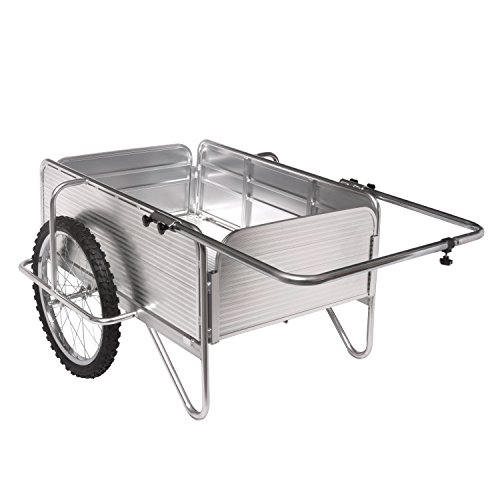 - Sun Joe SJ-ALGC All-Purpose Heavy-Duty Aluminum Yard Cart With Removable Panels