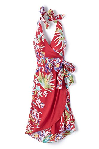 Nanette Lepore Hula Gal Tropical Wrap Dress, Red, Small by Nanette Lepore