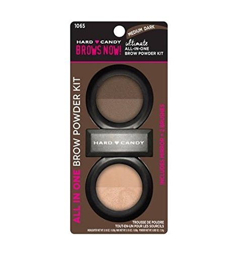 Hard Candy Brow Now Ultimate All-In-One Brow Powder Kit, 1065 Medium Dark (Hard Candy Makeup Kit)