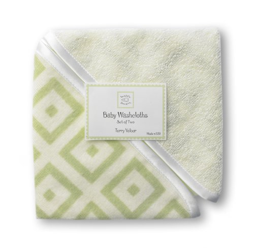 SwaddleDesigns Terry Velour Baby Washcloth