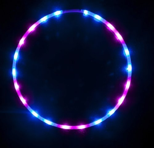 "36"" - 24 Solid Color LED Hula Hoop - Midnight Rose"