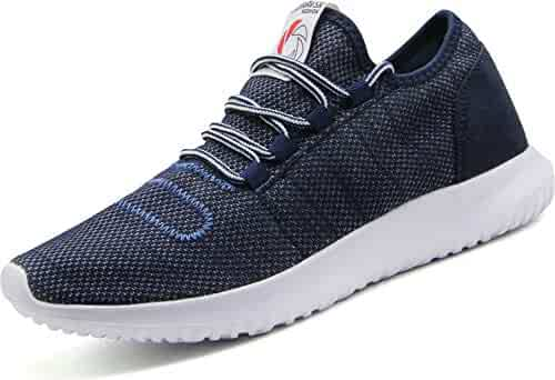 f53784720 CAMVAVSR Men s Sneakers Fashion Casual Running Shoes Soft Sole Breathable  Athletic Shoes for Walking