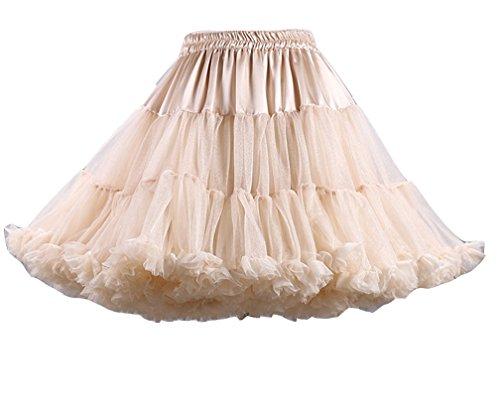 Jupe Tulle Underskirt Rockabilly Femme Courte Petticoat Kaki Petticoat en Vintage Rock xqAwCp