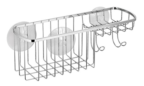 InterDesign Suction, Combo Basket, Polished Stainless Steel by InterDesign