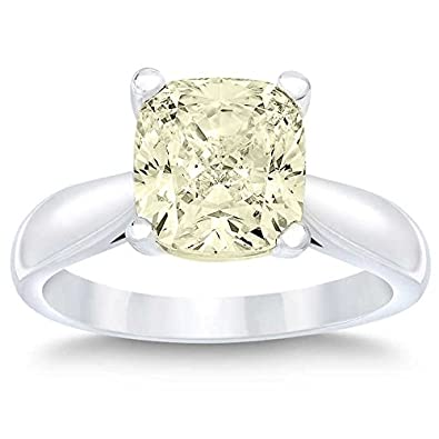 Amazon Com Colored Cushion Cut 1 Ct I1 Clarity Fly Color 14k