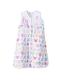 HALO SleepSack 100% Cotton Wearable Blanket, Pink Alphabet Pals, Medium