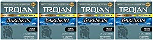 Trojan Condom Sensitivity Bareskin hMKMK Lubricated - 24 Count (4 Pack)