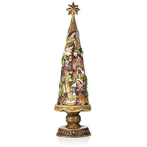 Avalon Gallery Nativity Christmas Tree Figurine (Unique Christmas Tree)