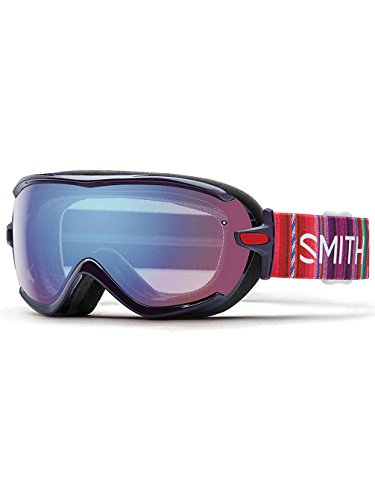 SNOW GOGGLE SMITH OPTICS VIRTUE BLACK CHERRY CUZCO - BLUE SENSOR MIRROR