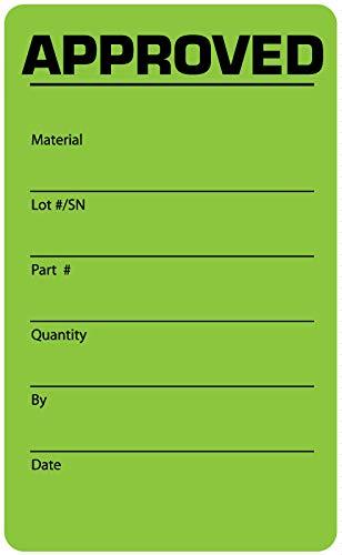 Quality Control Label, 2-1/8'' x 3-1/2''