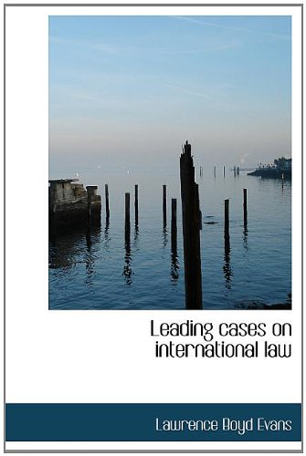 Leading cases on international law ebook