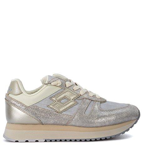 Lotto Leggenda Silver Sneaker Fabric Tokyo Woman's Silver Leather and rpr7wq