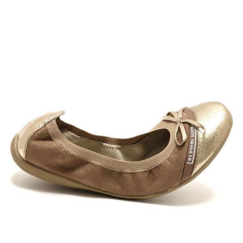 Bailarinas Sintético P'tites Les marrón Mujer Material de Bombes SHOnwqE