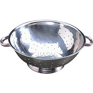 Tablecraft (713) 13 qt Stainless Steel Footed Colander