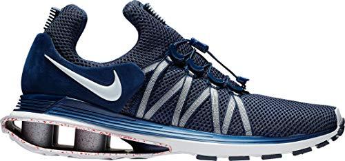 Running NIKE Mens White Gravity Navy Shox Shoes qtrtFz0