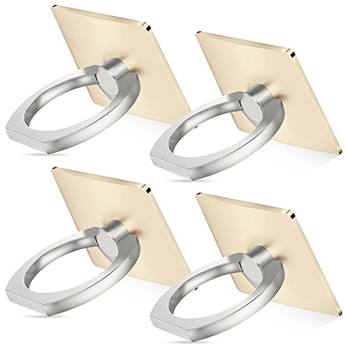 Cell phone holder, 4 Pack SENHAI Universal Smartphone Ring Grip Stand Car Mounts for Iphone, Ipad, Samsung HTC Nokia Smartphones, Tablet (4 Gold)