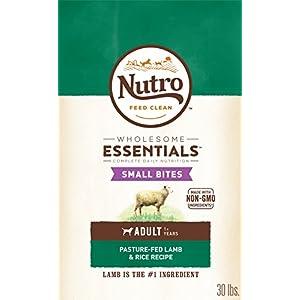 NUTRO WHOLESOME ESSENTIALS Natural Adult Dry Dog Food Small Bites Pasture-Fed Lamb & Rice Recipe, 30 lb. Bag 74