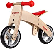 RUNNERS-BIKE | Premium Junior Wooden Balance Bike for Toddlers and Kids – Ages 18-30 Months – Adjustable Seat