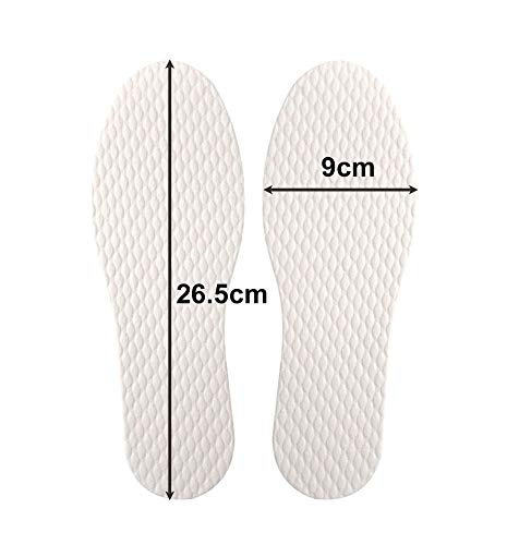 Wowlife 5/10/20 Pairs Disposable Breathable Thin Insoles Barefoot Insoles for US Size 6-9 (20 Pairs) by Wowlife (Image #1)