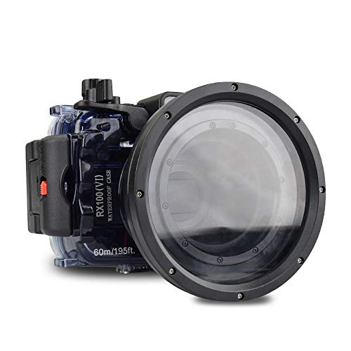 (Sea frogs for Sony DSC-RX100 VI 60m/195ft Underwater Camera Housing)