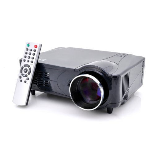 Multimedia HD 1080P LED Projector for Home Cinema by The Emperor of Gadgets - Supports Laptop PC, DVD Player, Video Game Consoles and More by Emperor of Gadgets