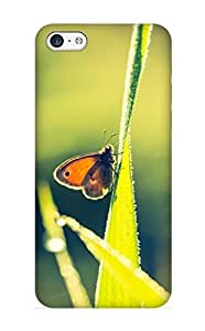 Flexible Tpu Back Case Cover For Iphone 5c - Animal Butterfly