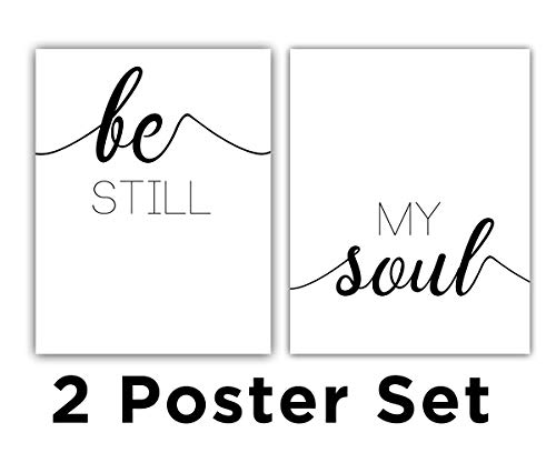 Be Still, My Soul, 11 x 14 Print Inch, Minimalist Art, Typography Art, Yoga Wall Art, Relaxation Gifts, Home Wall Art, Poster UNFRAMED from Modern Digital