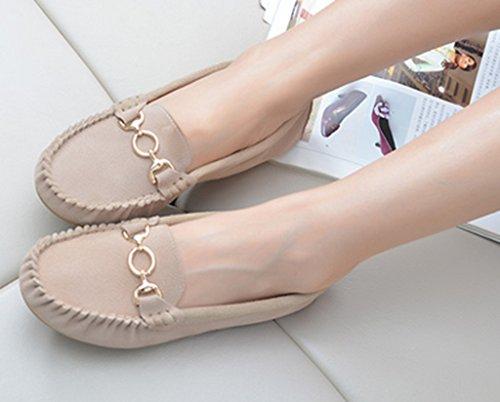 Crc Womens Fashion Bekväm Mocka Körning Vandringsled Som Kör Båt Loafers Lägenheter Flerfärgat Beige