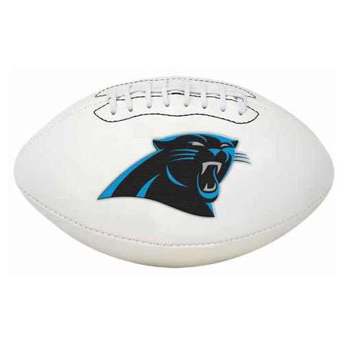 Carolina Panthers Embroidered Leather - NFL Signature Series Full Regulation-Size Football