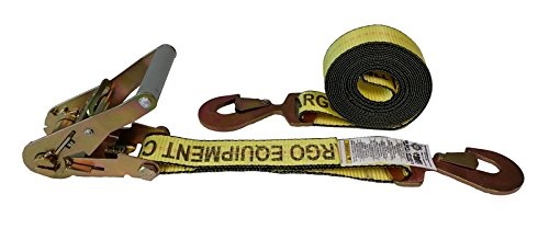 (Cargo Equipment Corp. 10 Foot X 2 Inch Yellow Ratchet Strap with Flat Snap)