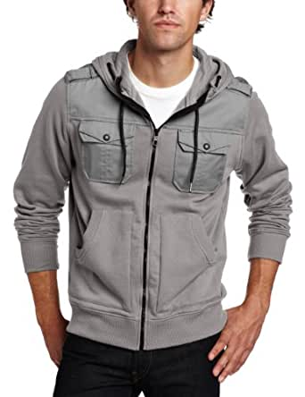 Marc Ecko Cut & Sew Men's Militia Hoody, Gray, Medium
