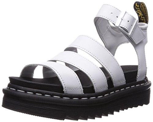Dr. Martens Women's Blaire Sandal, White, 8 Medium UK (10 US)
