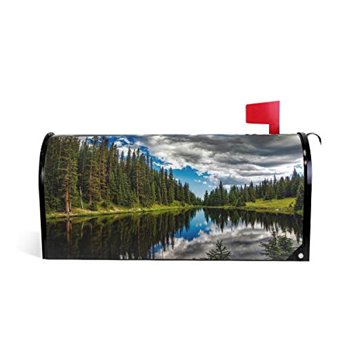 Magnetic Mailbox Cover Lake Irene Colorado Water Reflections Sky Clouds Mail Wraps Cover Letter Post Box 25.5