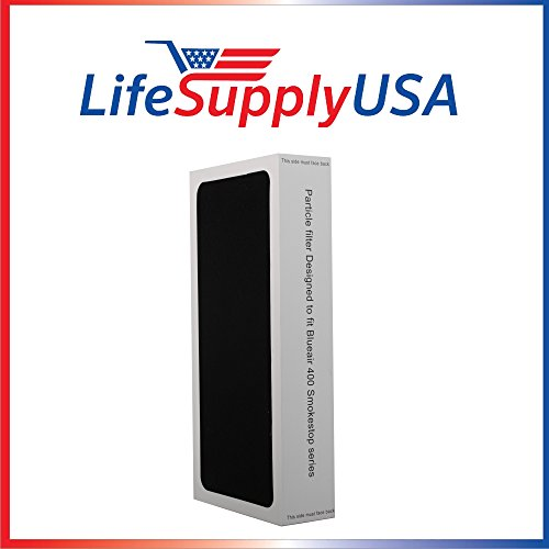 Series Smokestop Replacement (1 Air Purifier replacement Filter fits ALL Blueair SmokeStop 400 Models 401, 410B, 403, 450E,400PF, 401PF ; By LifeSupplyUSA)