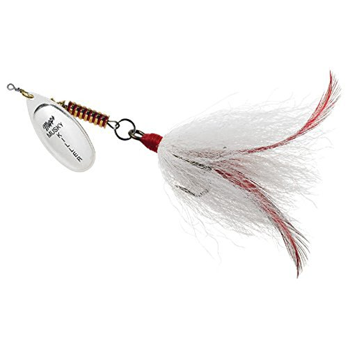 Mepp's Musky Killer Dressed Fishing Lure, 3/4-Ounce, Hot Chartreuse/Chartreuse Tail