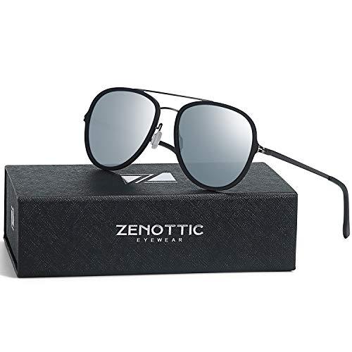ZENOTTIC Kids Aviator Polarized Sunglasses Ultra Lightweight Metal Frame for Small Face Double Bridge 100% UV ()