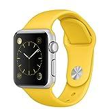 APPLE(アップル) Apple Watch Sport 38mmシルバーアルミニウムケースとイエロースポーツバンド