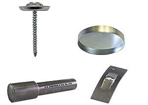 50: Osborne roscado uñas kit de botón: 22(uñas/Shell/arandela) W/cóncava herramienta # 915