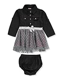 Real Love Baby Girls' Dress with Diaper Cover
