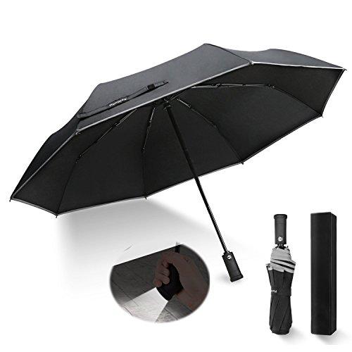 Monstleo-Compact-Travel-Umbrella-Windproof-Travel-Umbrella-with-LED-Light-Auto-OpenClose-Button