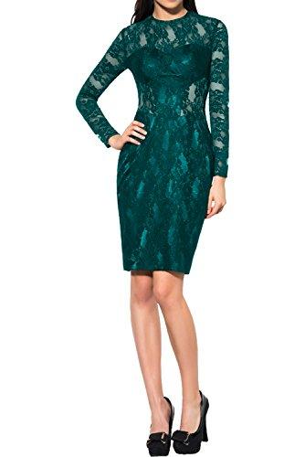 Etui Damen Tanzenkleider Partykleid Spitze Blaugruen Ivydressing Kurz Langarm Abendkleider Elegant Ballkleid zBqnawPR