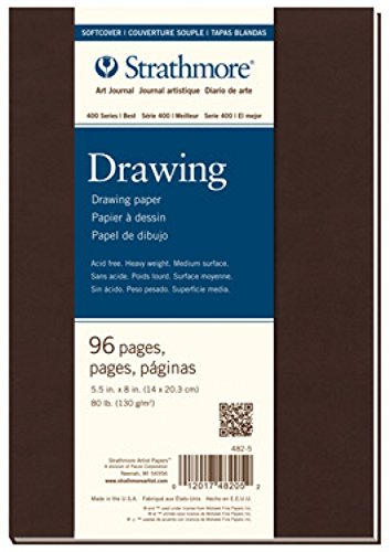 Strathmore STR-482-5 No.80 Drawing Softcover Art Journal, 5.5 by 8