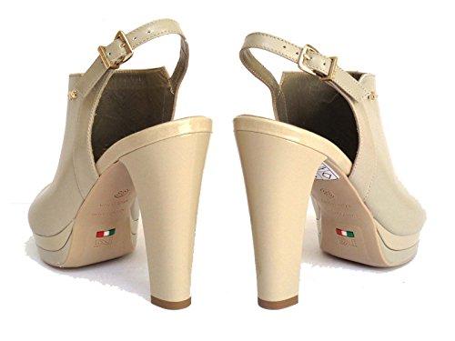 Nero Giardini - Sandalias de vestir de Piel para mujer hueso Asparago (Avorio) 37