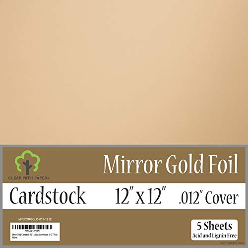 Mirror Metallic Gold Cardstock - 12 x 12 inch - .012