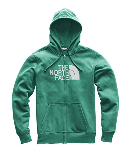 The North Face Men's Half Dome Full Zip Hoodie - Everglade Heather & High Rise Grey - S