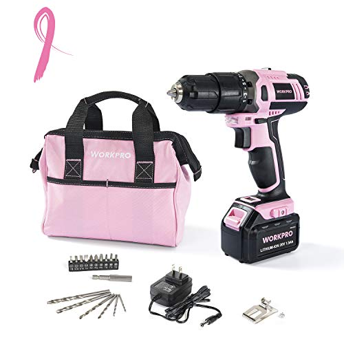 WORKPRO Pink Cordless 20V
