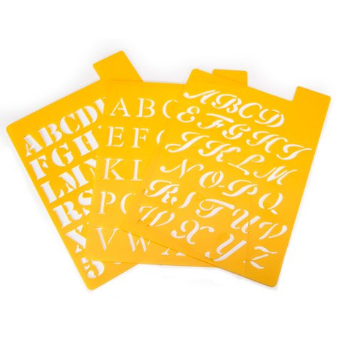 Better Crafts STENCIL ALPHA 3FONTS UPPER LOW CASE 1IN (3 pack) (01217250)