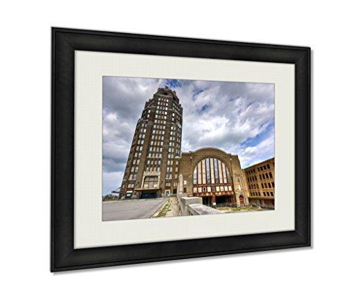 Ashley Framed Prints, Buffalo Central Terminal New York, Wall Art Decor Giclee Photo Print In Black Wood Frame, Ready to hang, 24x30 Art, AG5579680